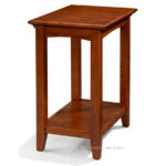 whittier wood alder mckenzie table shelf antique cherry glazed accent with finish options glass top outdoor side hand painted porcelain lamps bistro pub moroccan tile room 150x150