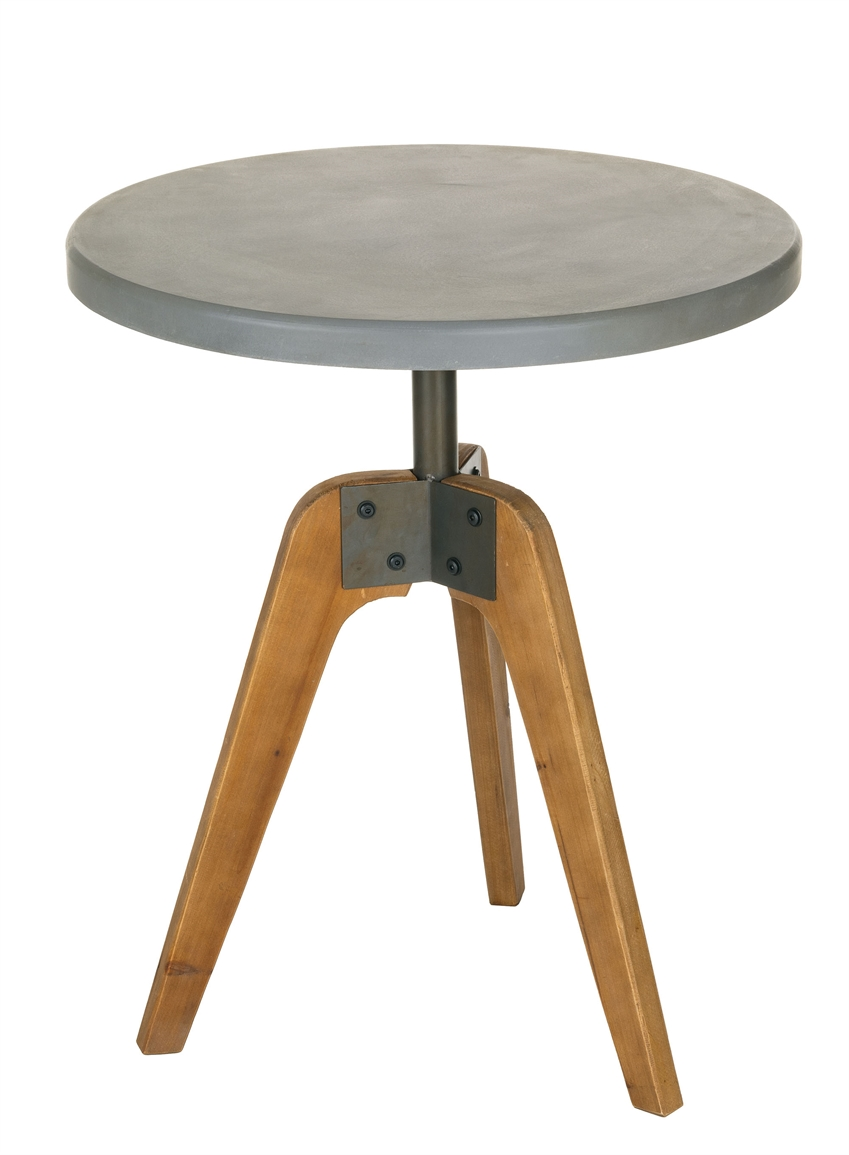 whole cement top accent table home decor natural tables sullivans wood antique oak small mirrored end battery operated lamps outside bar furniture astoria patio lawn covers for