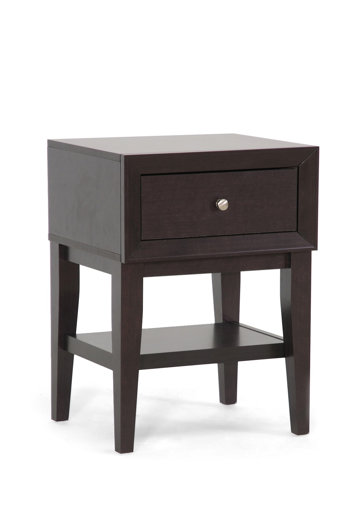 whole interiors gaston dark brown modern accent table nightstand inch legs furniture pieces blue lamp cotton napkins bar fitted nic covers black acrylic ashley chairs mirrored