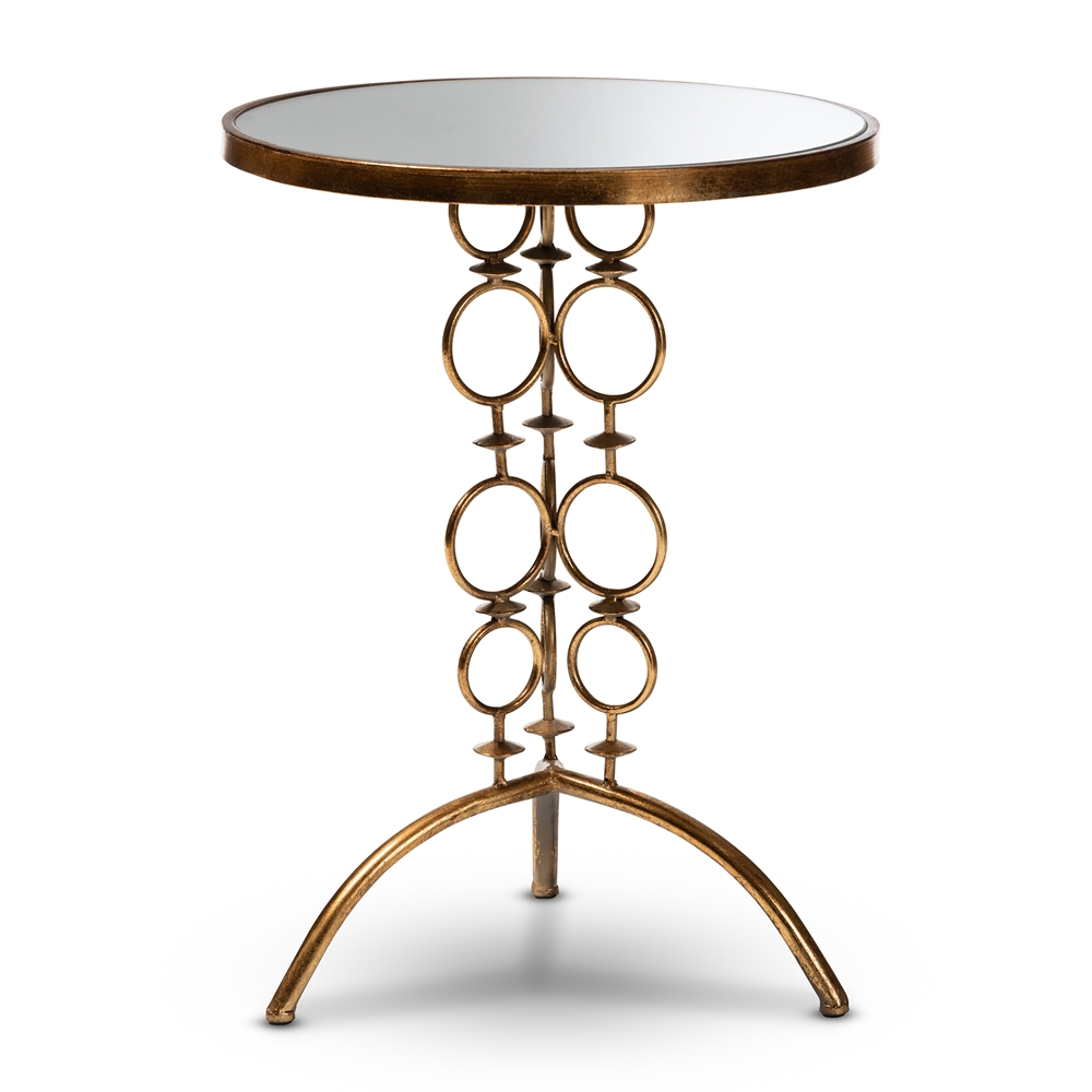 whole living room tables furniture mirrored glass accent table baxton studio issa modern and contemporary antique gold finished metal bellevue ikea patio tall narrow lamp top end