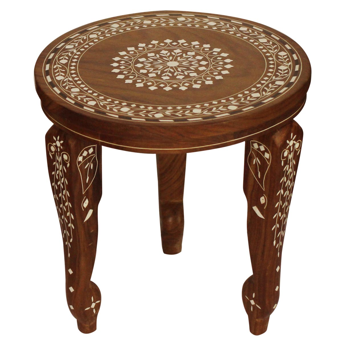 whole round wooden leg stand accent table with removable acrylic legs floral mandala small patio dark wood nightstands grill solid room essentials lamp ashley furniture modern