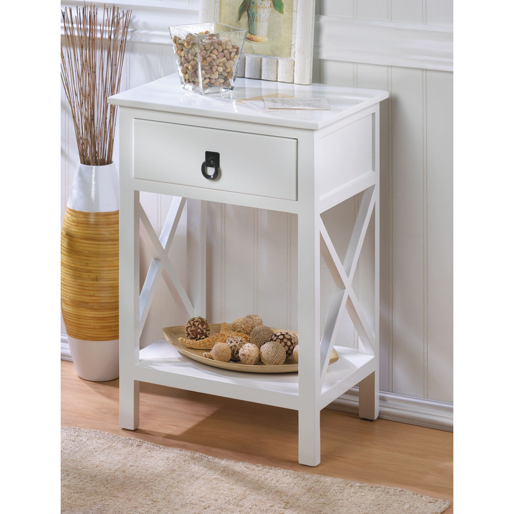 whole white glossy finish side table tables accent chandelier lamp shades wicker outdoor setting trestle style kitchen gray brown end furniture clearance marble night lamps for