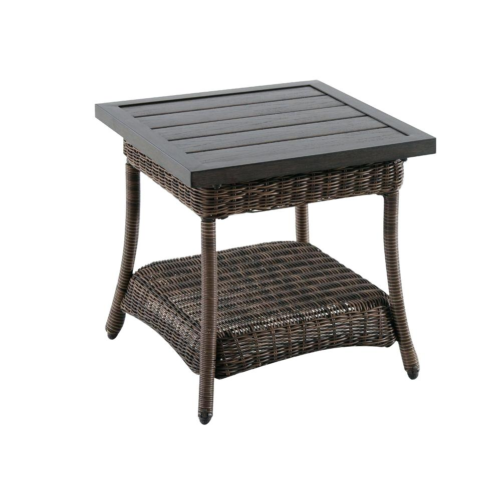 wicker patio side table endearing beautiful metal outdoor end tables bay beacon park all weather accent the coffee target leather chair tiffany butterfly lamp antique drop leaf