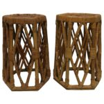 wicker side tables cizmedecauciuc info pair vintage hexagon rattan for bedside table lamp ikea outdoor brown modern accent with drawer dale tiffany dragonfly lily dining and 150x150