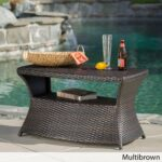 wicker transitional outdoor coffee side tables for less berkeley table with umbrella hole christopher knight home iron frame queen dining accents small concrete simple console 150x150