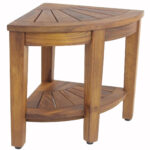 wide kai corner teak side table with shelf stool accent tall lamps for bedroom low tables living room portable coffee tassel garland target distressed trestle antique round lamp 150x150