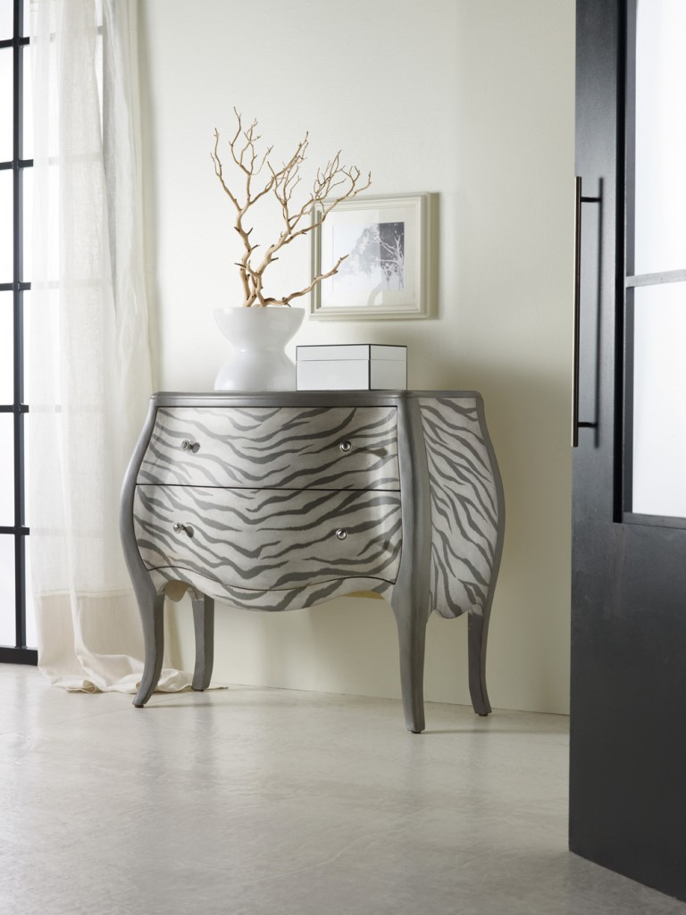 wild for animal prints hooker furniture corporation smaller zebra accent table kanya chest corner waterproof phone pouch target long farmhouse dining west elm antique legged