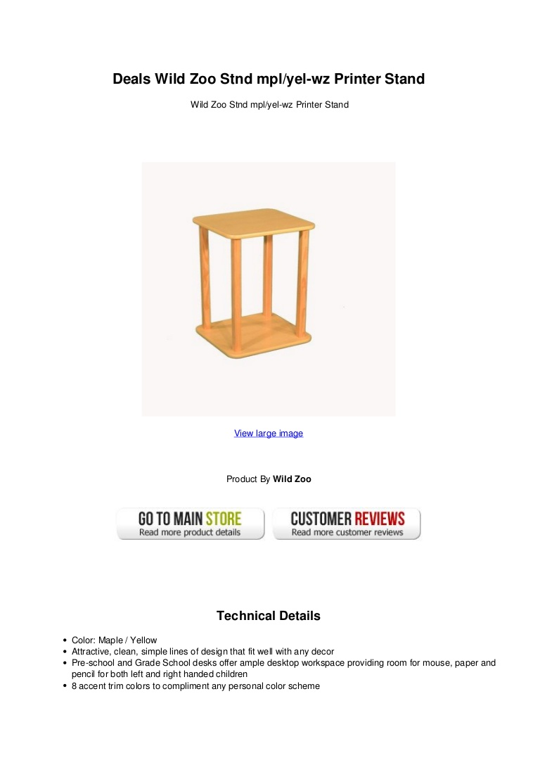 wild zoo stnd mplyel printer stand swildzoostndmplyel wzprinterstand thumbnail winsome daniel accent table with drawer black finish whole tablecloths for weddings square marble