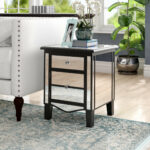 willa arlo interiors romarin mirrored end table reviews cube accent pottery barn long console affordable modern outdoor furniture short contemporary lamp tables for living room 150x150