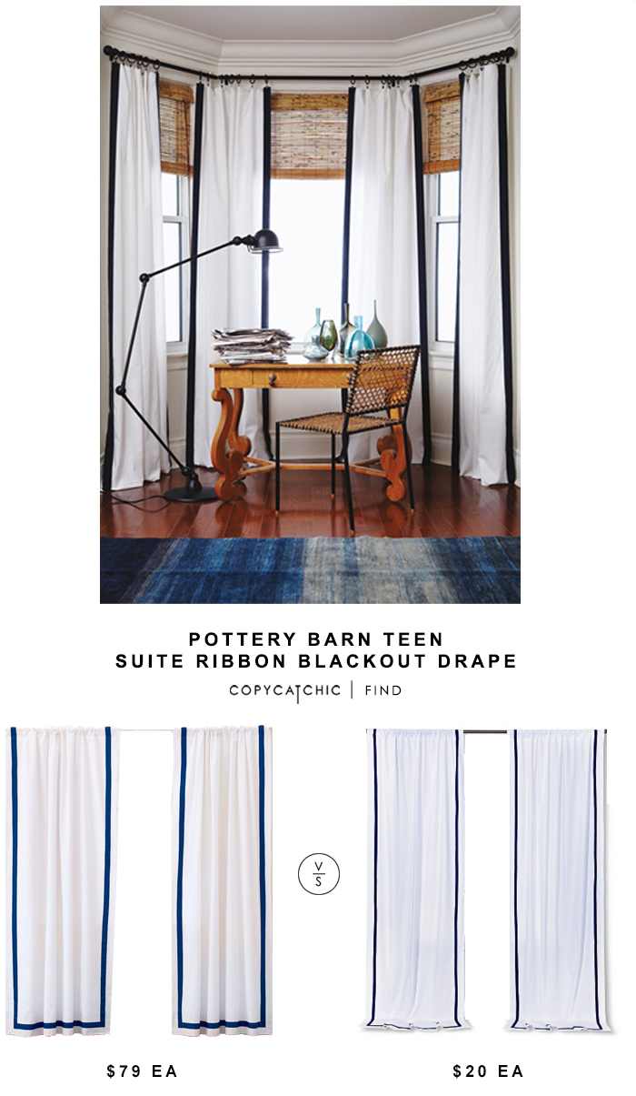 williams sonoma striped edge linen drape copycatchic teen suite ribbon copy cat chic look for less pottery barn jamie accent table each target circo wood dining room furniture