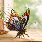 wind weather metal and stained glass butterfly figurine reviews accent table inch round decorator cloth small drop leaf target patio gray side gallerie sofa designer lamps tall 150x150