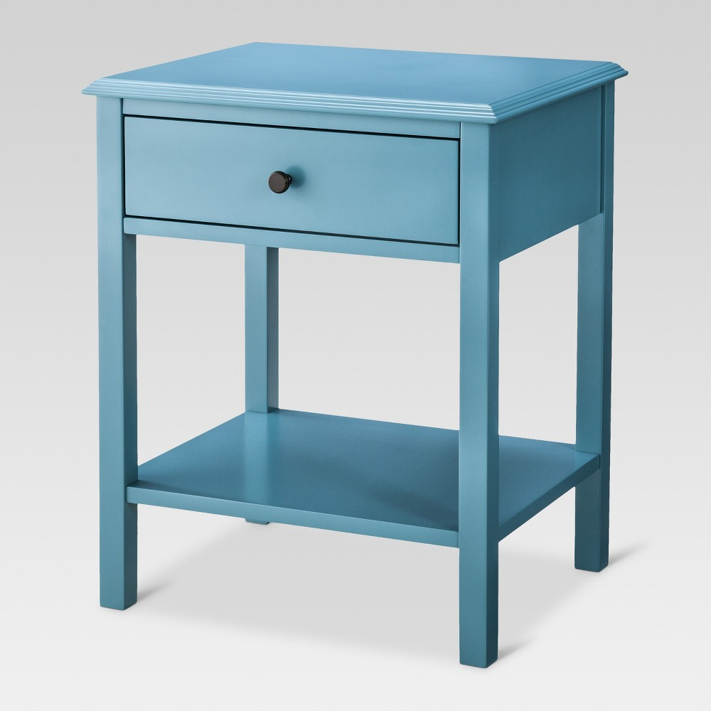 windham side table teal blue threshold products fretwork accent white round circle glass coffee target console vinyl tablecloth patio dining cover cherry wood night wrought iron