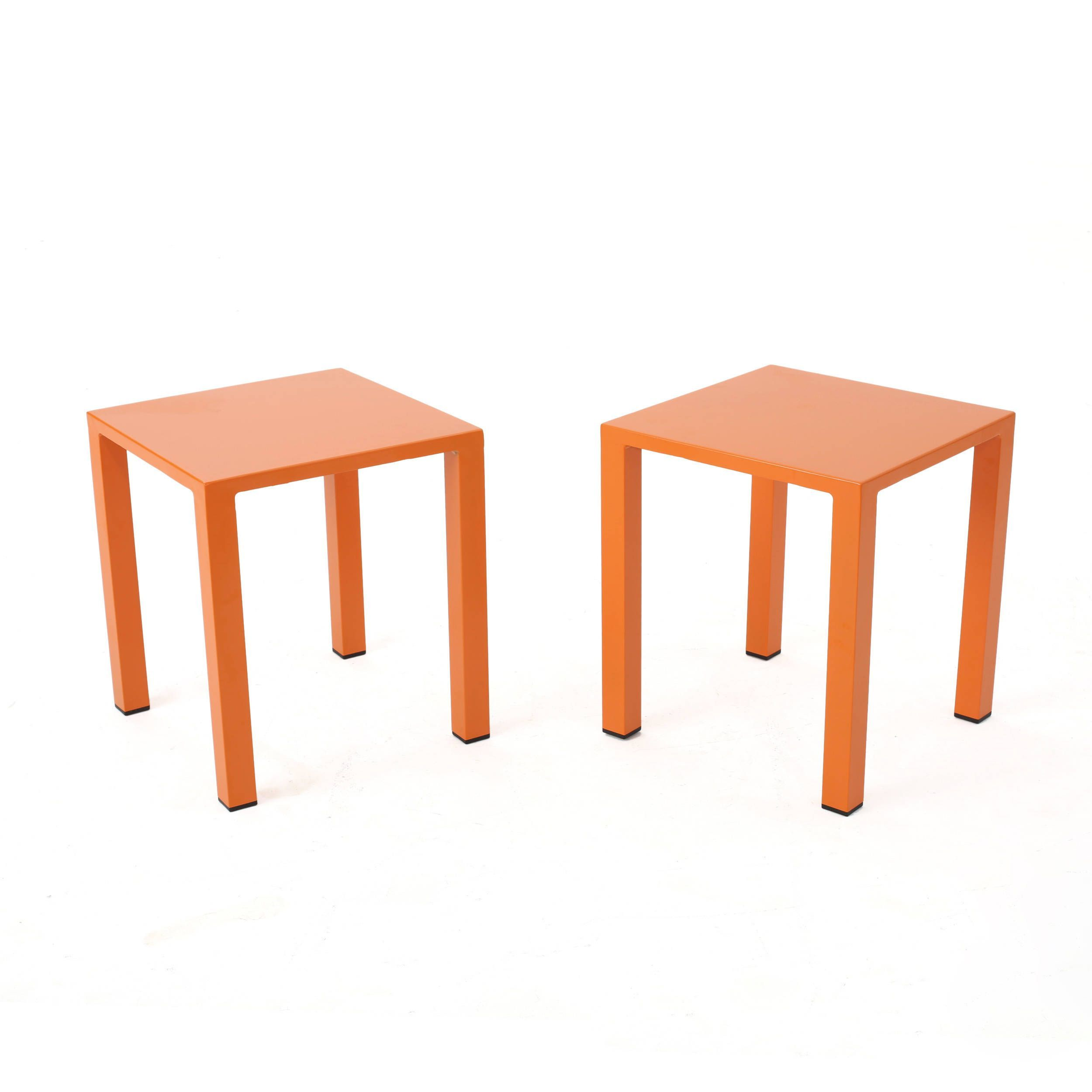 windsdor outdoor inch square aluminum side table set orange christopher knight home lime green multi patio furniture red living room decor tables for small spaces goods kitchen