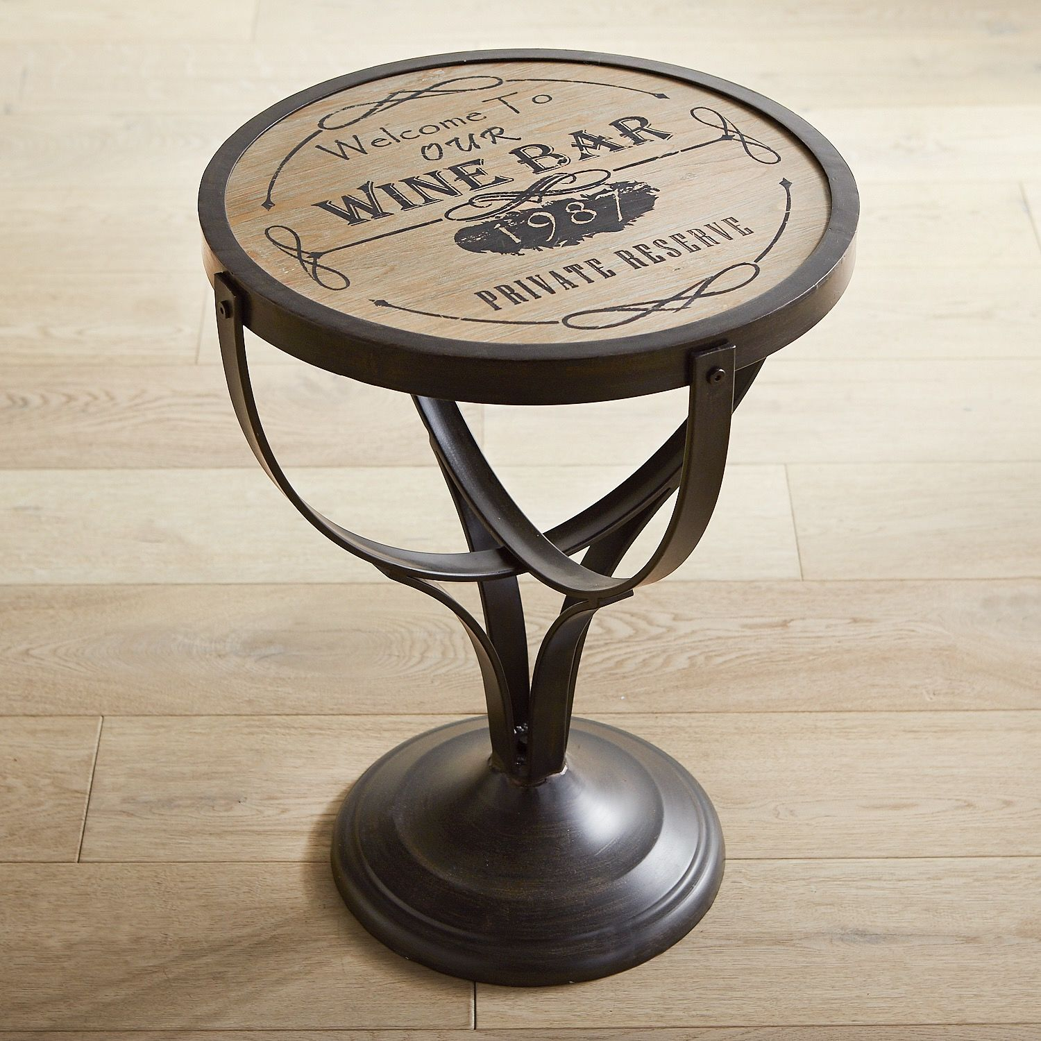 wine bar round accent table pier imports one side tables half height legs oval coffee with shelf contemporary bedroom lamps glass rack small dresser concrete wood home ornaments