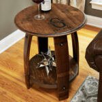 wine barrel end table enthusiast accent espresso color coffee patio dining sets with umbrella device charging chest for bedroom industrial style side hardwood floor threshold grey 150x150