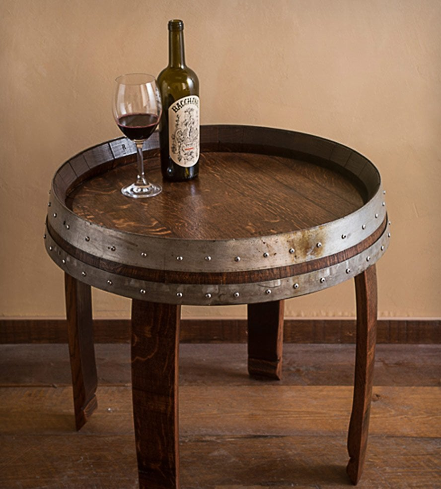 wine barrel end table furniture loccie better homes gardens ideas accent tablecloth for dining room high lighting between two chairs iron side unfinished wood dresser drawer