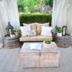 wine barrel furniture ideas you can diy outdoor side table with ice bucket acrylic lamp chairs mid century modern dining bench white phone small leather chair circle coffee set 150x150