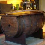 wine barrel table accent black glass coffee corner chest industrial style side dining chairs edmonton square farmhouse beautiful round tablecloths hardwood floor threshold dark 150x150