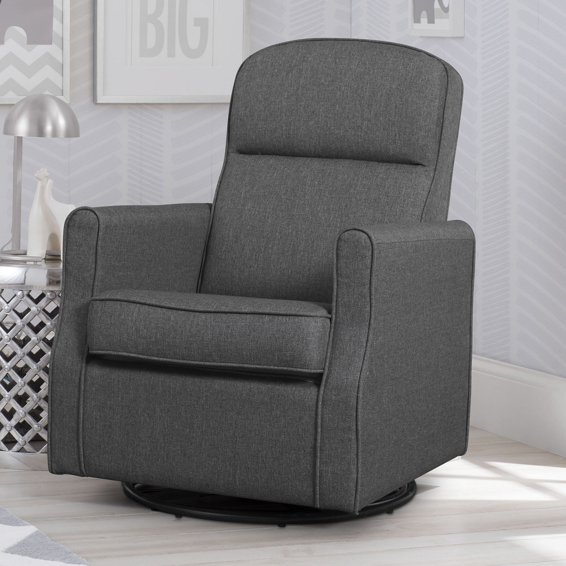 wingback nursery rocker blair slim swivel glider accent table quickview black side with glass top bedroom chairs gazebo canopy round patio tablecloths garage storage cabinets