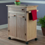 winsome basics kitchen cart with wooden top reviews wood beechwood end accent table espresso west elm mobile chandelier dining chairs lamp attached round black coffee screw legs 150x150