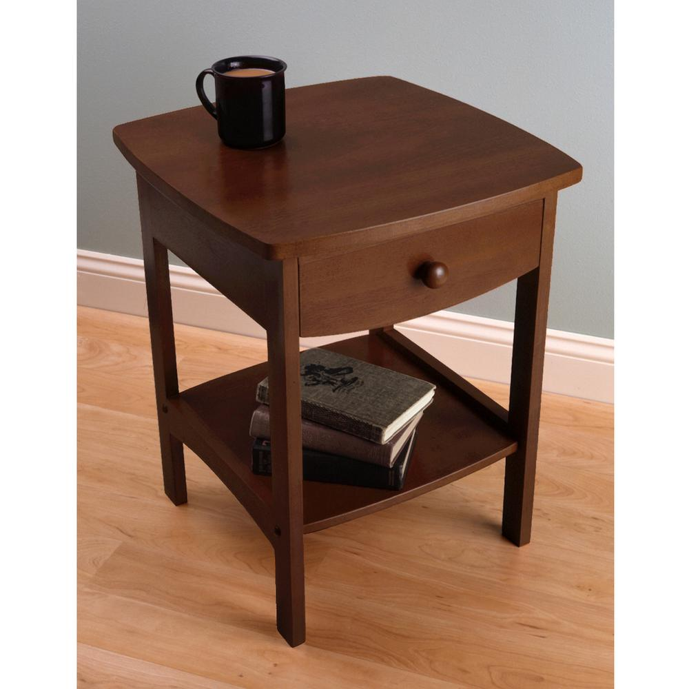 winsome claire accent table anitque walnut finish the end tables mission style target kitchen chair cushions with ties black dining room teal and chairs oval glass metal coffee