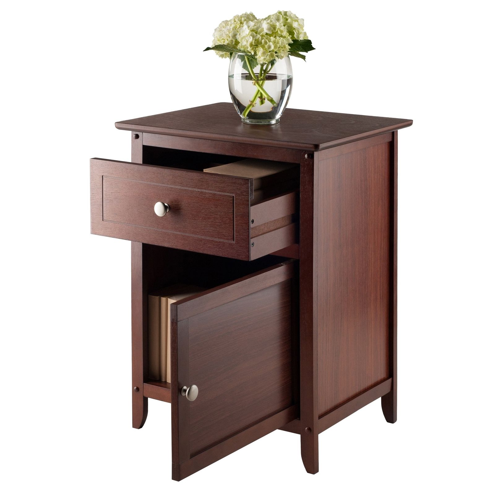 winsome classic eugene accent table brown white decorative with drawers and metal coffee round kitchen furnishing small spaces target curtain rods ideas for shabby chic dresser