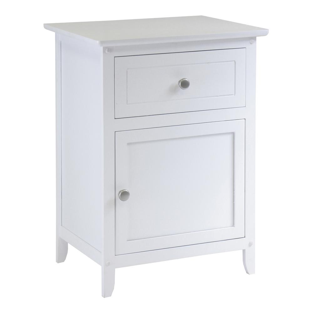 winsome eugene accent table white the nightstands nightstand rustic end tables with storage ashley sleeper sofa red bedside lamps inch console pottery barn christmas furniture