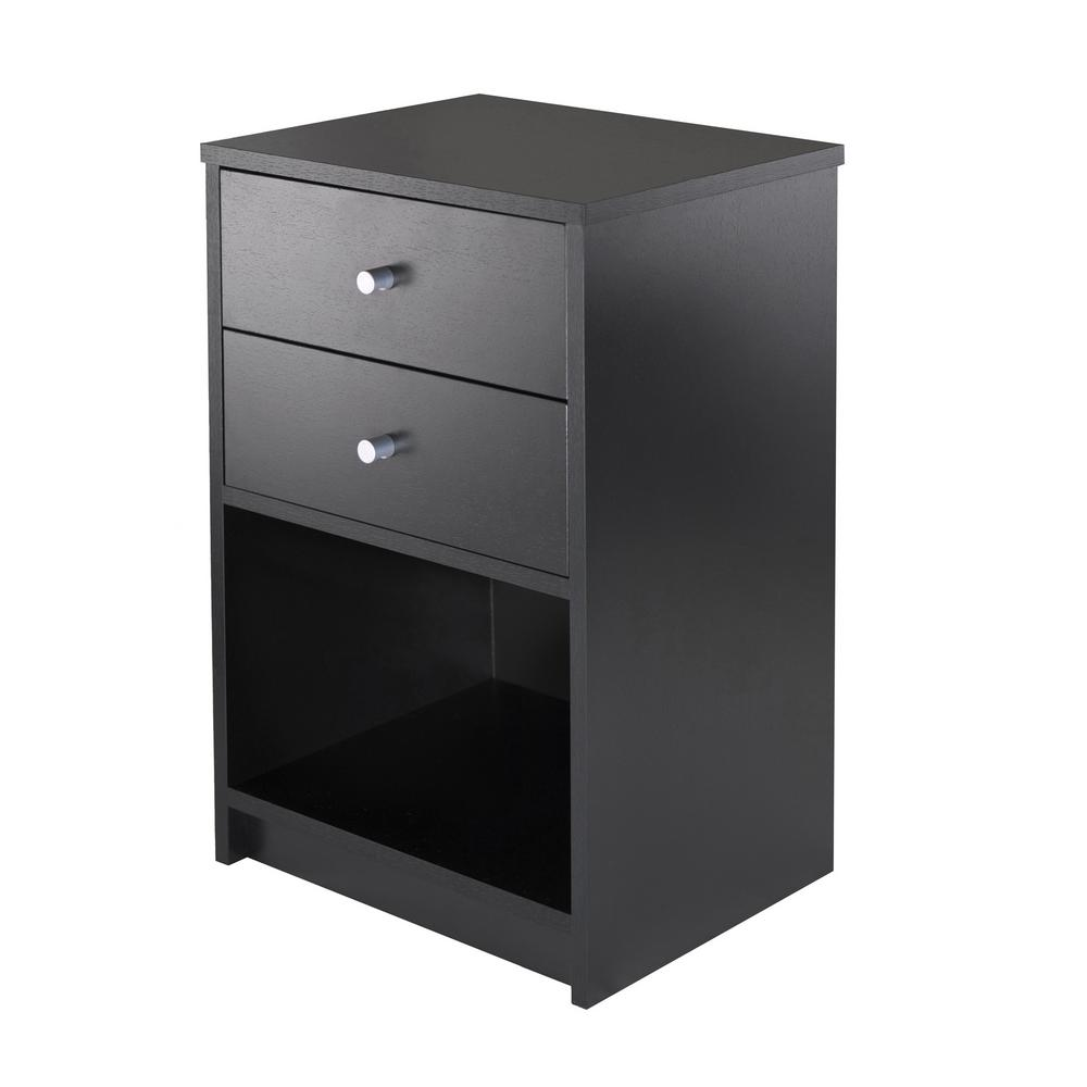 winsome furniture the black nightstands zoey night accent table with baskets walnut ava drawers finish making end tables rustic half moon mosaic kohls coffee sets doors and