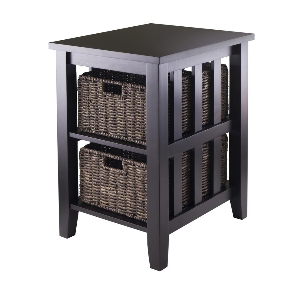 winsome furniture the espresso end tables eugene accent table morris side with foldable baskets wine rack cupboard silver nest dale tiffany crystal lamps small brass outdoor patio