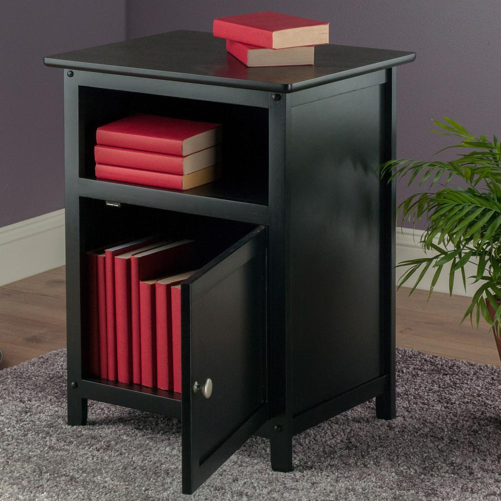 winsome henry accent table black the nightstands with storage counter height dining metal tool cabinet tree stump side modern stools silver bedroom lamps colorful patio furniture