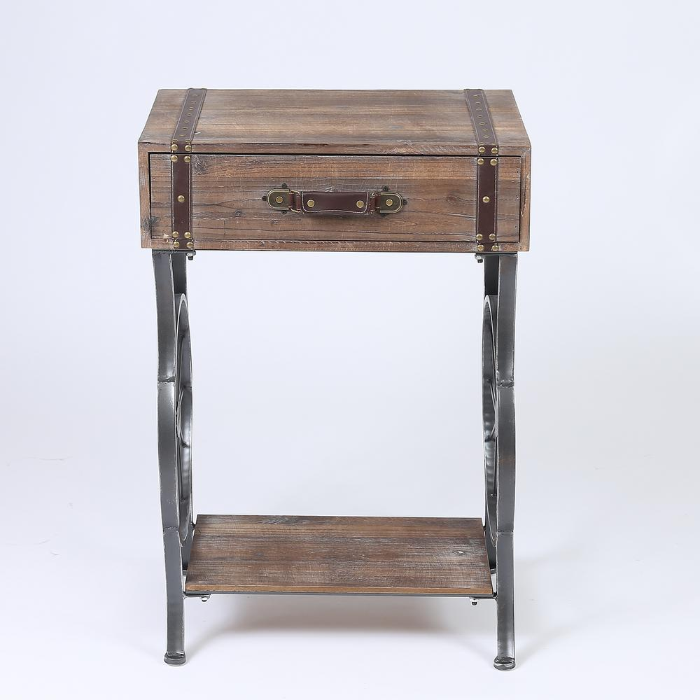 winsome house rustic natural single drawer accent table the wood console tables cherry dining room mosaic garden bench diy cocktail marble and side windham tall cabinet with