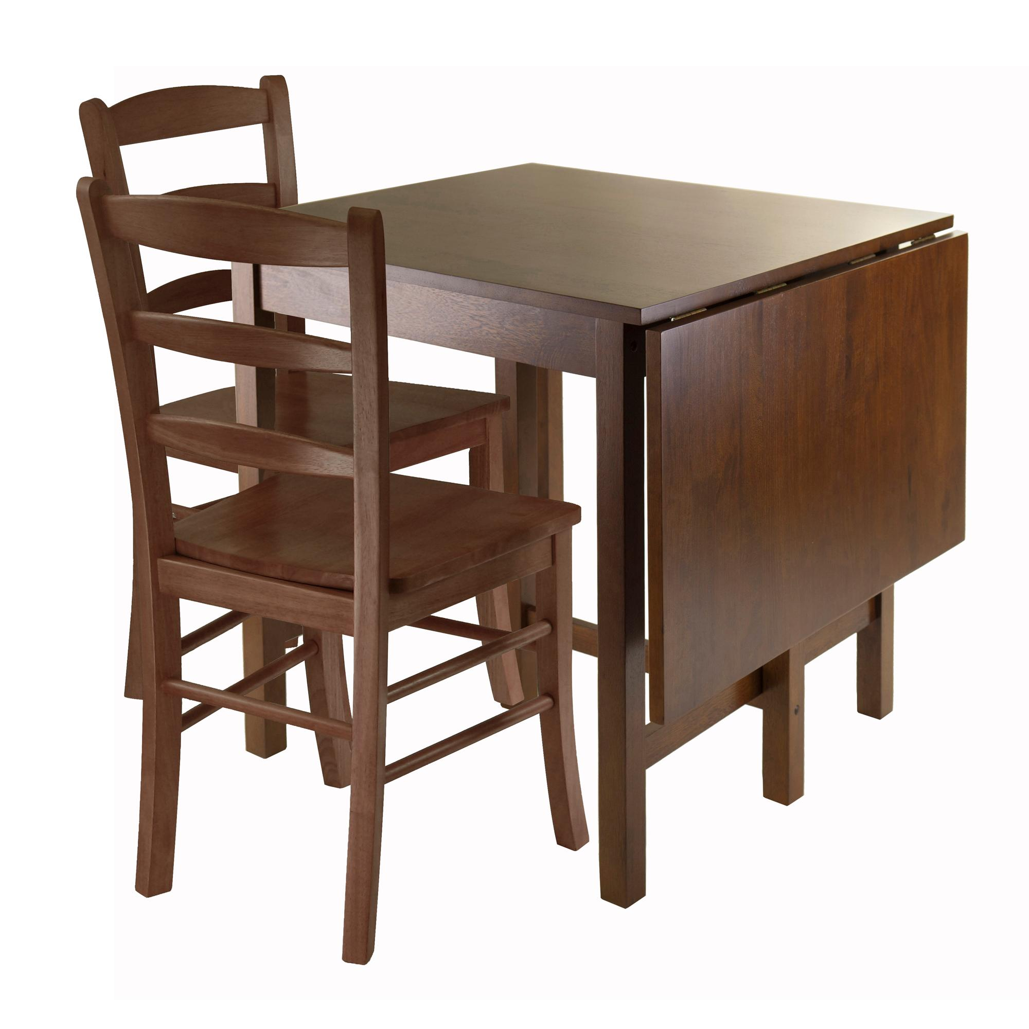 winsome lynden piece dining table with ladder back accent chair and side set view larger curved mirrored bedside jcpenney area rugs bathroom art ikea nightstand all marble high
