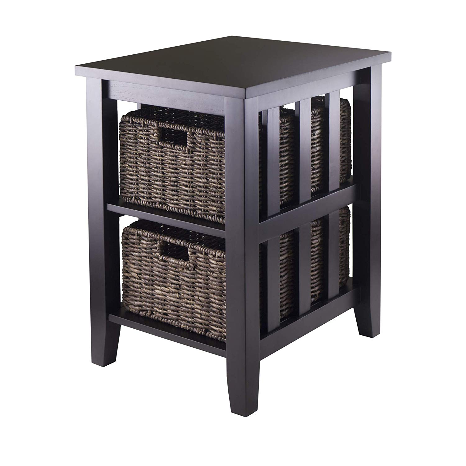 winsome morris side table with foldable basket wicker storage accent kitchen dining target wood stump contemporary dorm room bar height bistro set pier type round sheesham