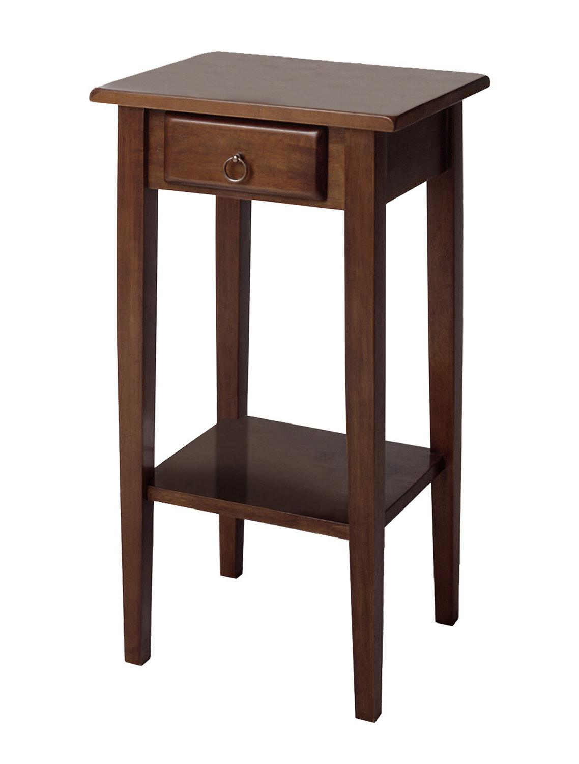 winsome regalia accent table with drawer shelf home goods the eryn round drawers small garden wooden kitchen and chairs inch christmas tablecloth black square coffee glass metal