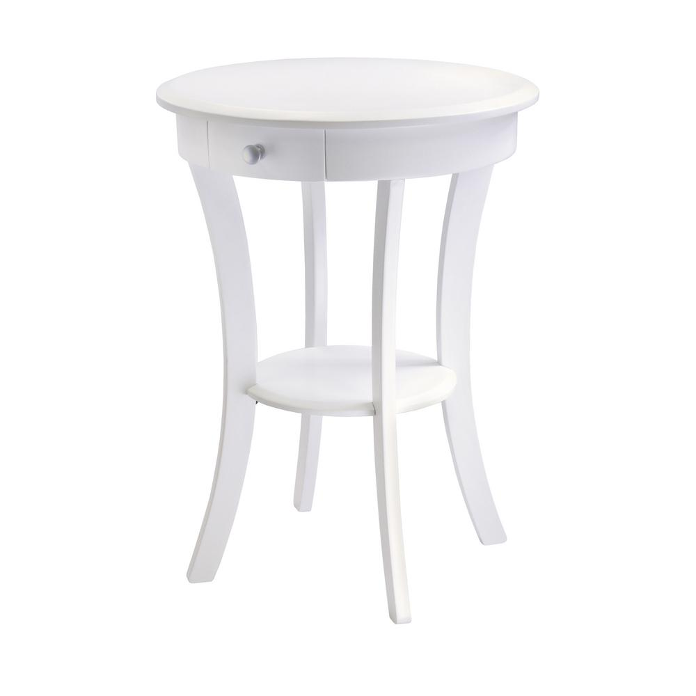 winsome sasha round accent table the white end tables aluminium door threshold cool coffee decorative storage cabinets for living room queen frame eames chair replica very