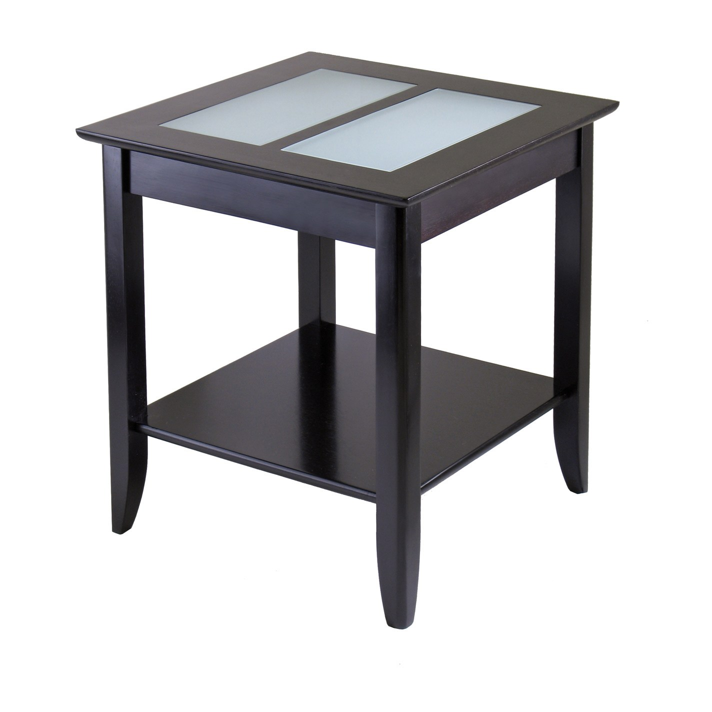 winsome syrah home living room espresso wood end table with frosted glass beechwood accent free shipping today ikea shelves pottery barn black coffee round inch nightstand bedside
