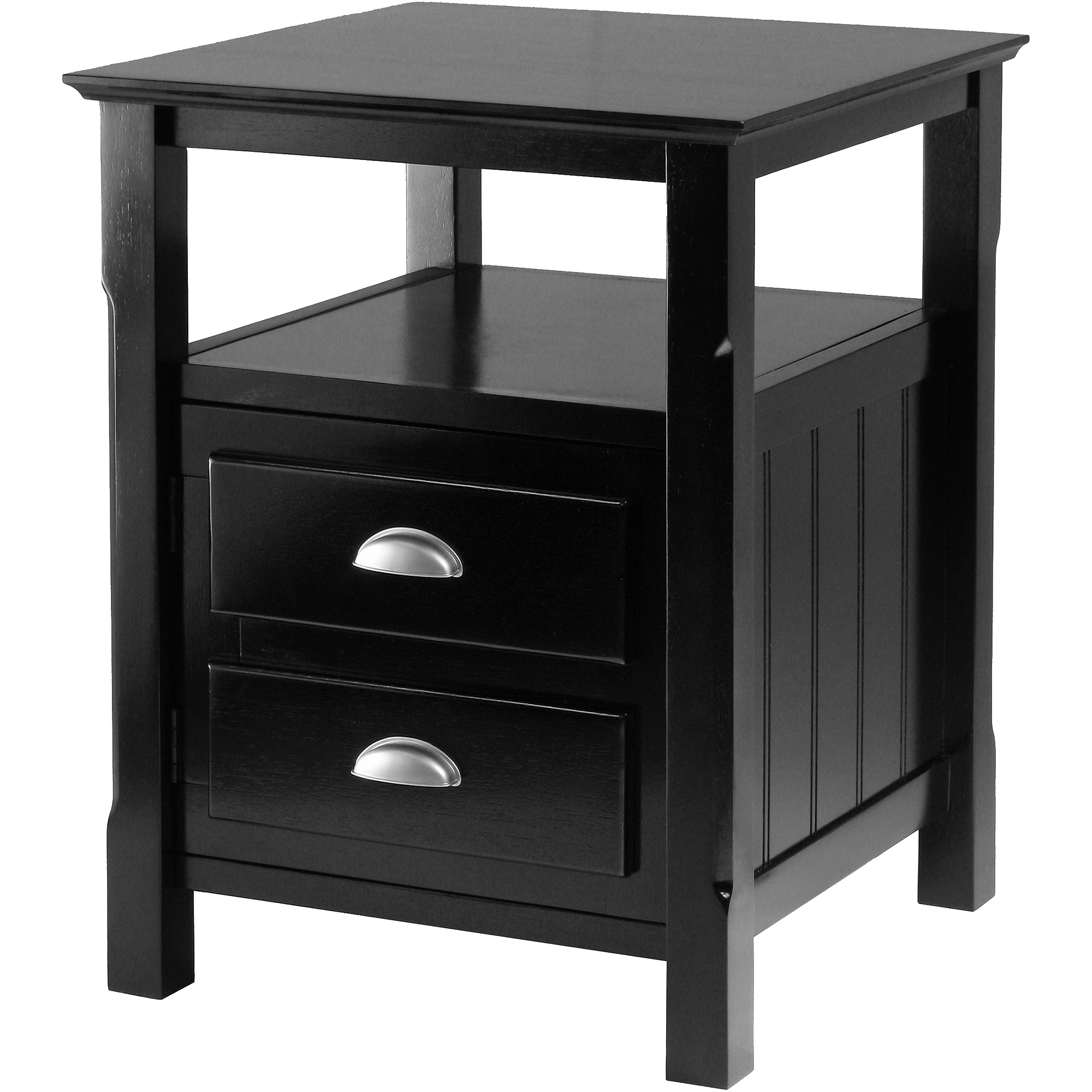 winsome timmy nightstand accent table black cement coffee kids modern outdoor tables hall console sofa ikea short with drawers high end nate berkus marble acrylic side small vinyl