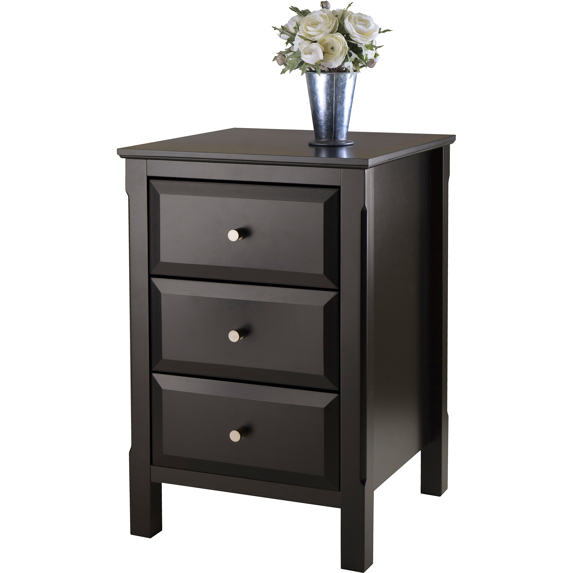 winsome timmy nightstand accent table black room essentials metal patio verizon free tablet clear lucite desk wade furniture mosaic tile outdoor side rechargeable battery powered