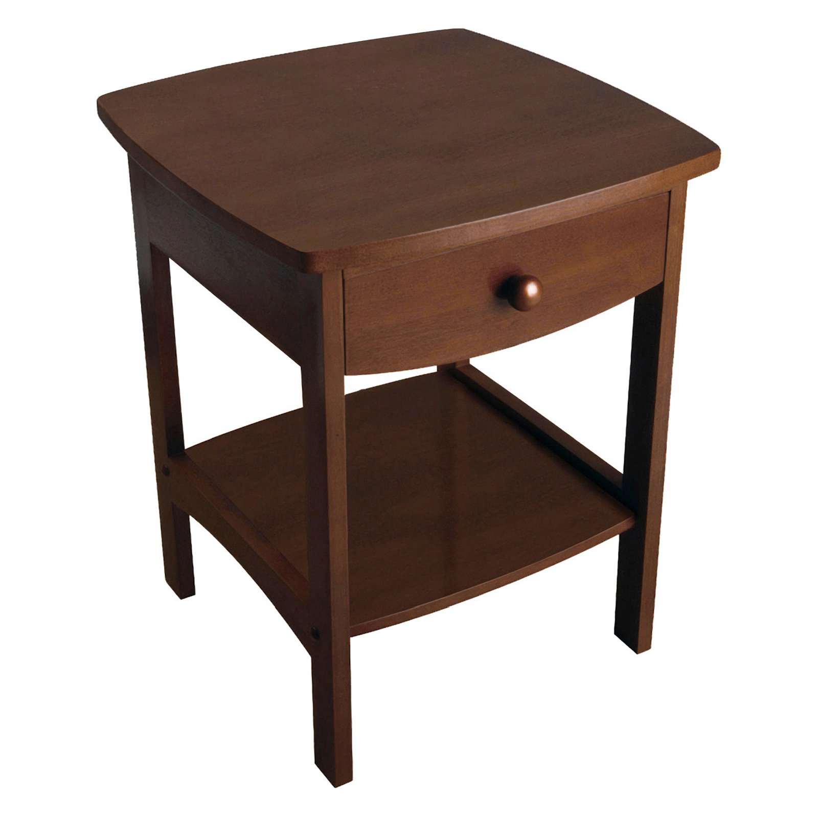 winsome trading curved drawer nightstand end table pottery barn flower accent elegant linens stand alone outdoor umbrellas trestle and bench ashley furniture rustic coffee sofa