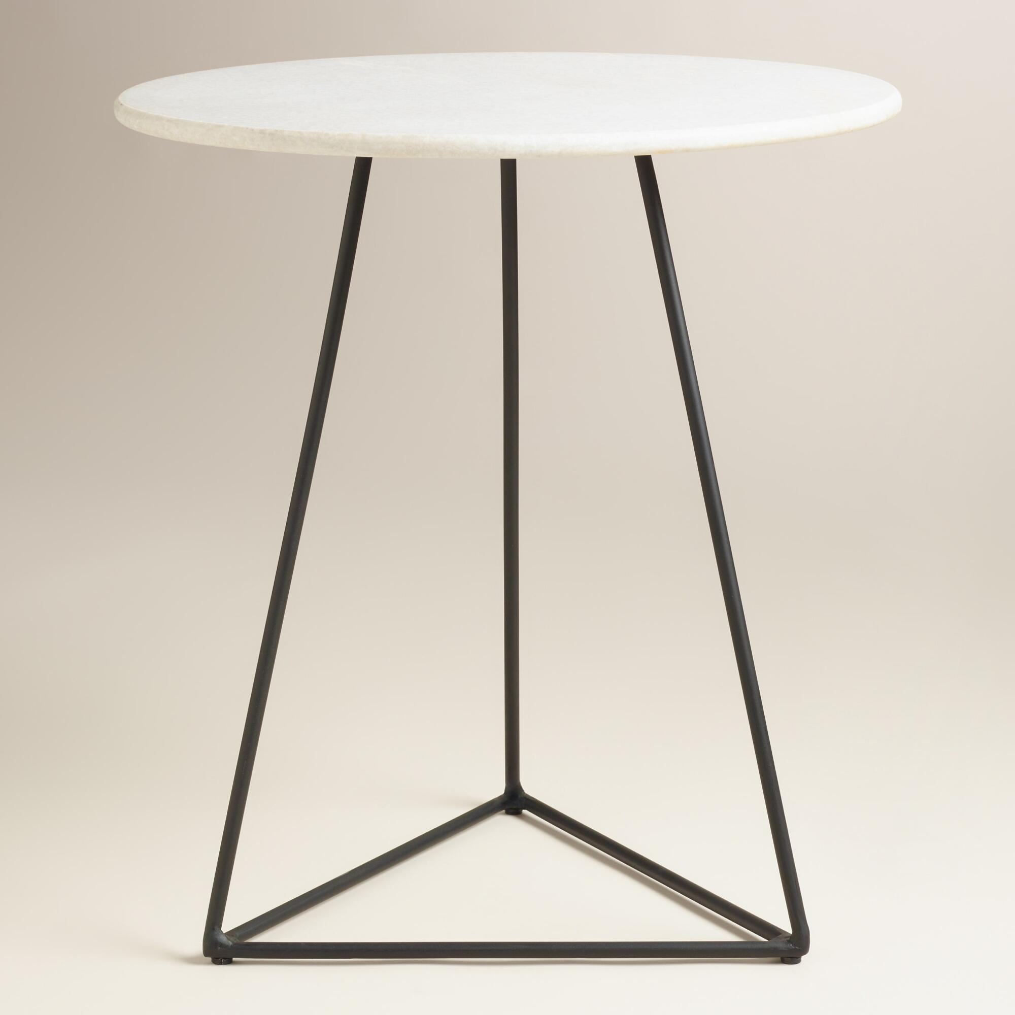 Winsome White Marble Round Table Faux Set Top Astonishing