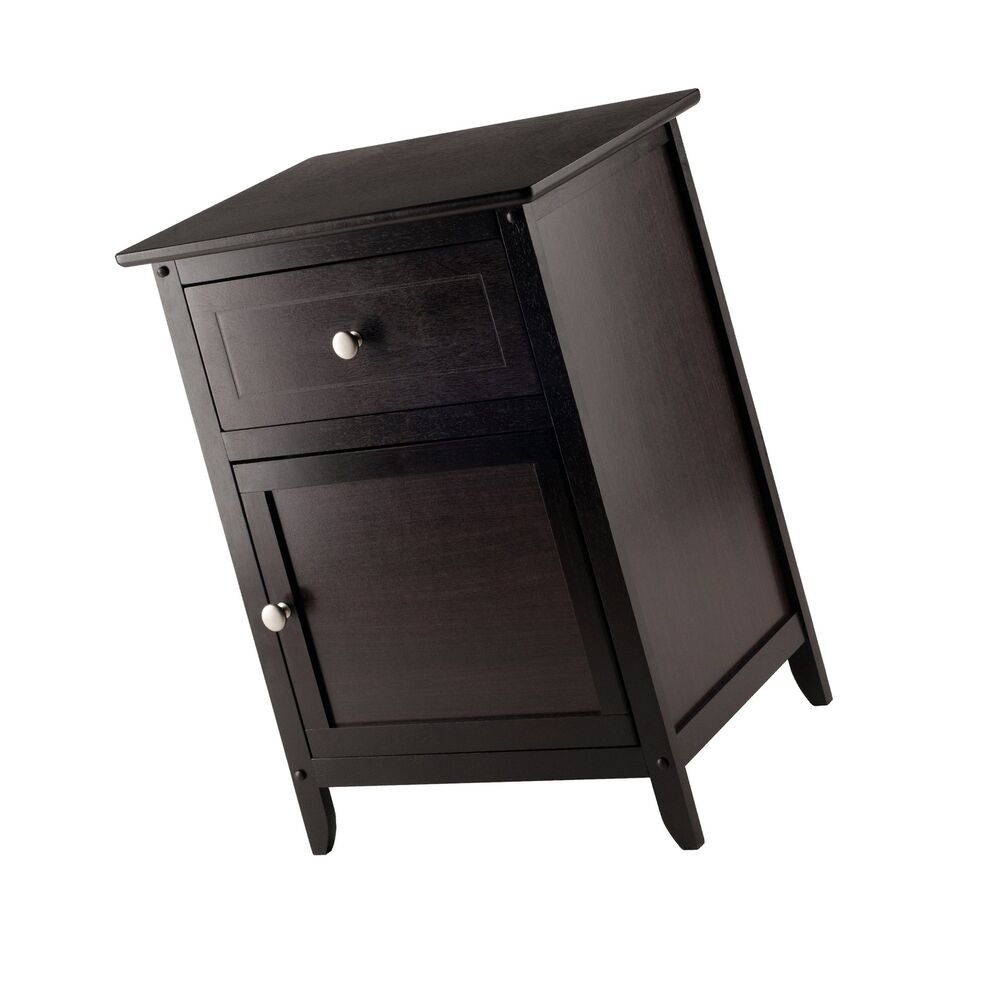 winsome wood beechwood end accent table espresso inch nightstand patio furniture saskatoon dining chairs marble glass tables ashley office cast aluminum round black coffee blue