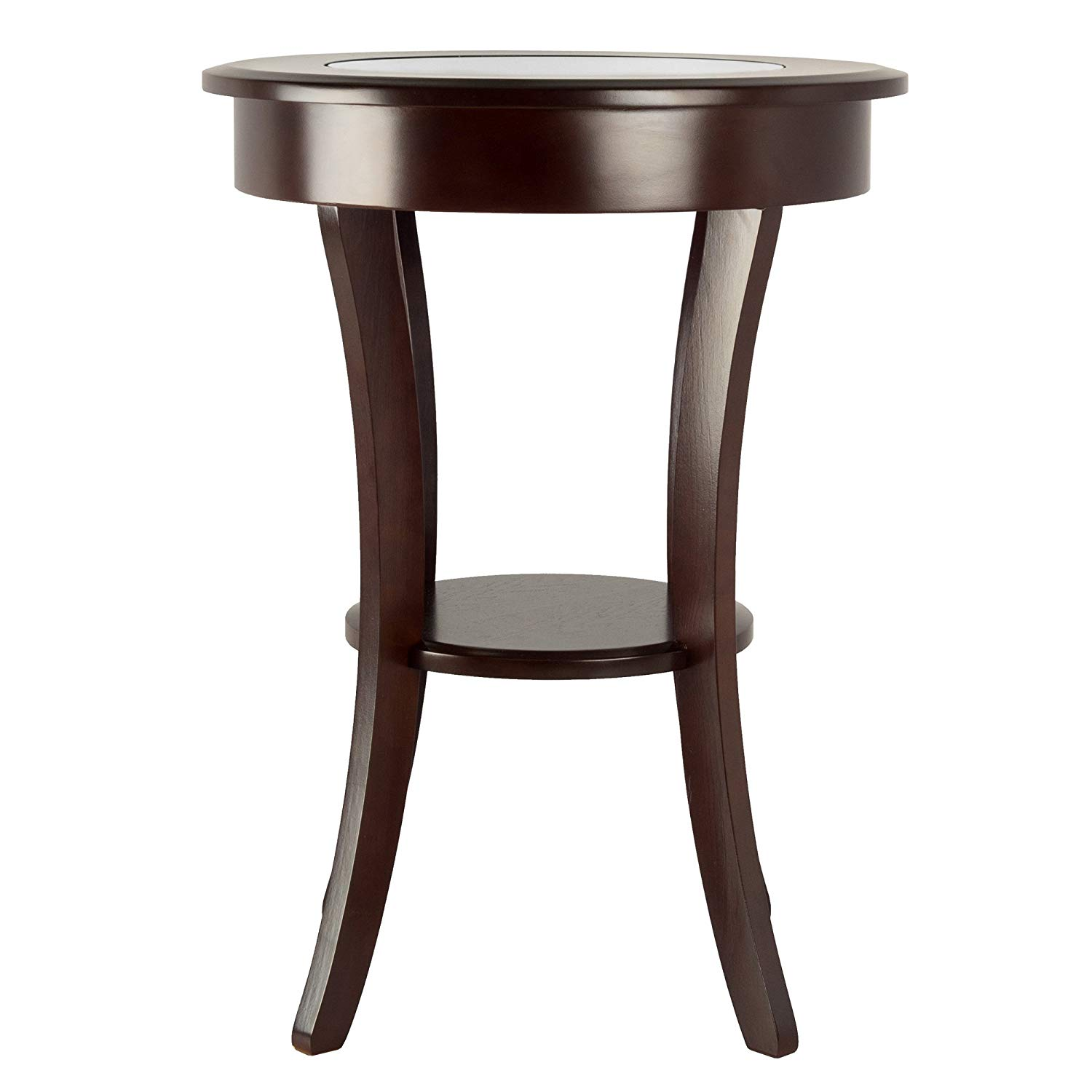 winsome wood cassie accent table cappuccino round with glass kitchen dining mosaic patio side antique nesting tables inlay ashley end swing arm lamp marble furniture outdoor