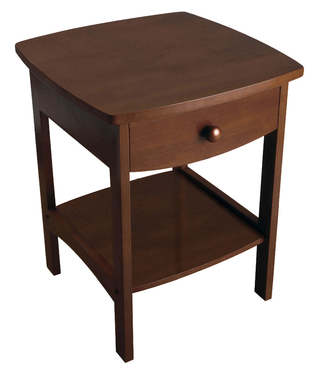 winsome wood claire accent table anitque walnut finish household squamish with drawer espresso corner mirrored lamp battery powered floor lights bbq grill side waterproof