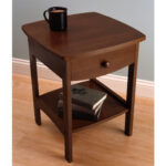 winsome wood claire accent table anitque walnut finish household timmy black corner battery operated desk lamp short with drawers cherry coffee decorative powered lamps cool end 150x150