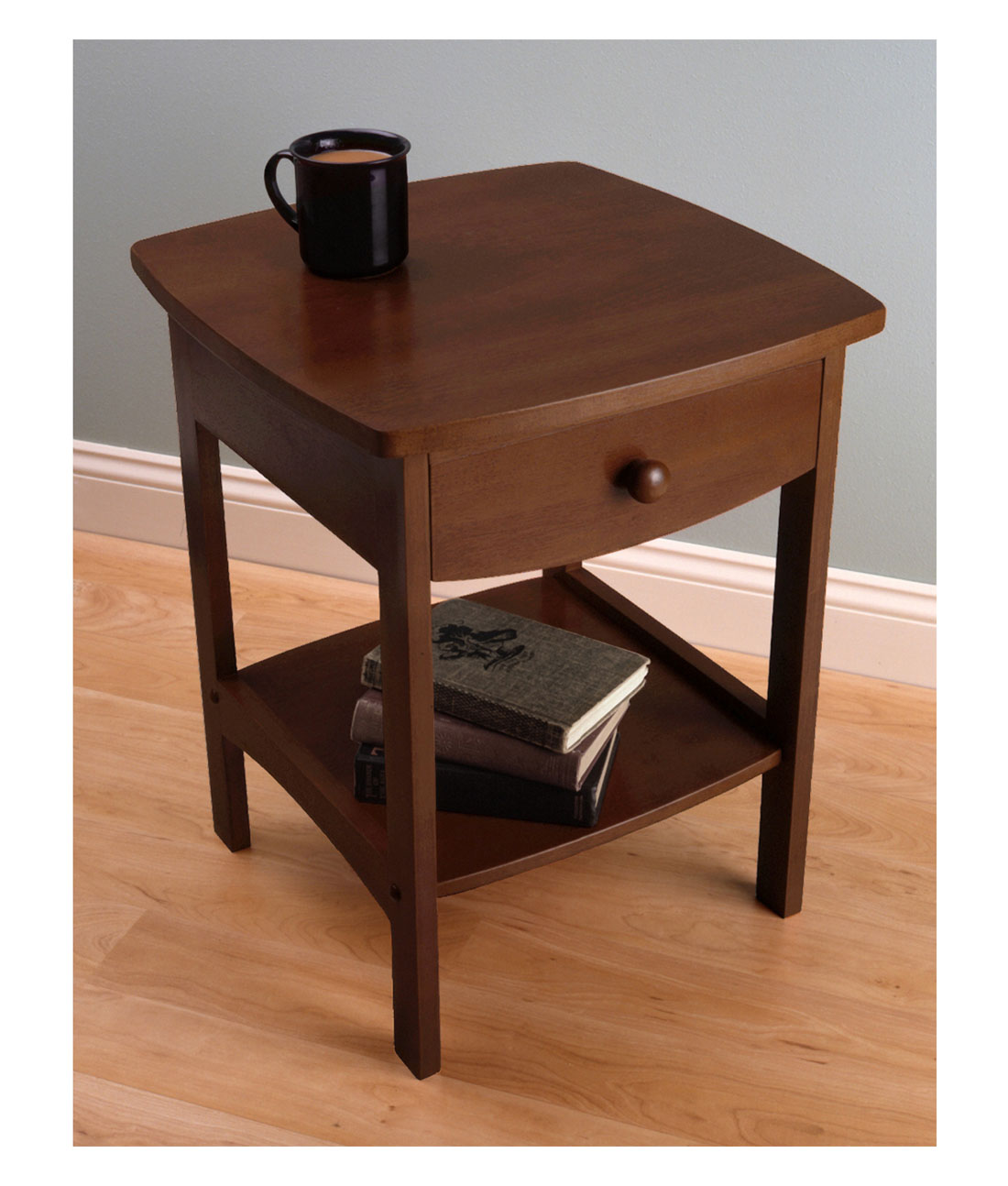 winsome wood claire accent table anitque walnut finish household timmy black corner battery operated desk lamp short with drawers cherry coffee decorative powered lamps cool end