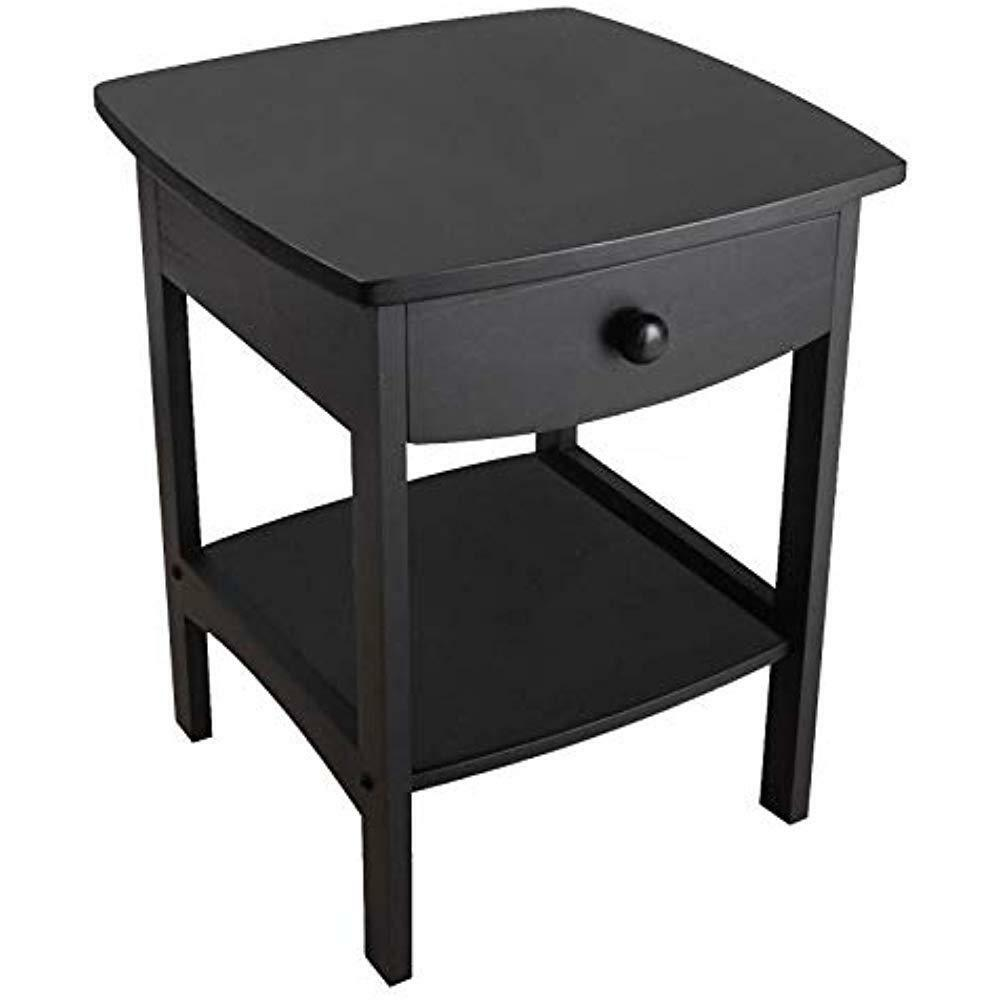winsome wood claire accent table black cassie with glass top cappuccino finish stock home furnishings edmonton patio and umbrella tier round side square end drawer unique cabinet
