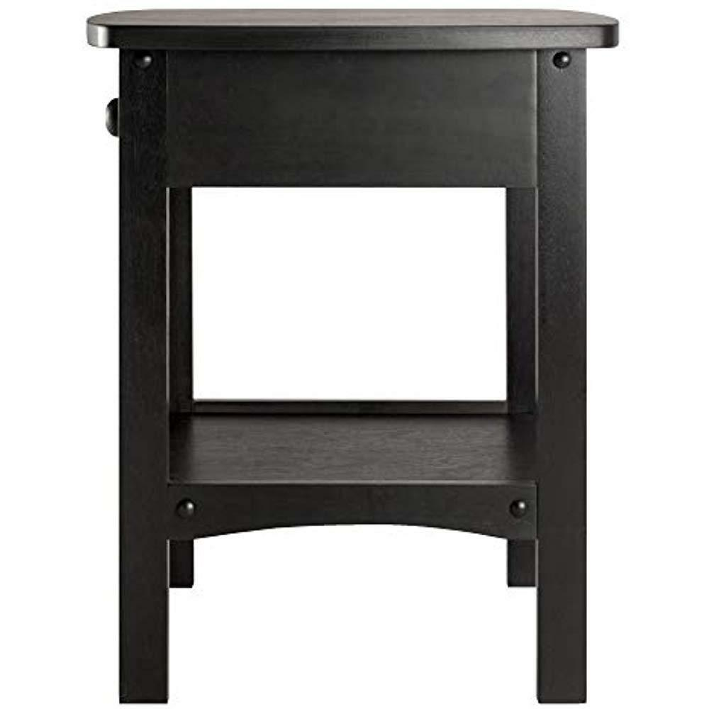 winsome wood claire accent table black cassie with glass top cappuccino finish umbrella stand square end drawer garden furniture chairs sasha round living dining centerpiece ideas