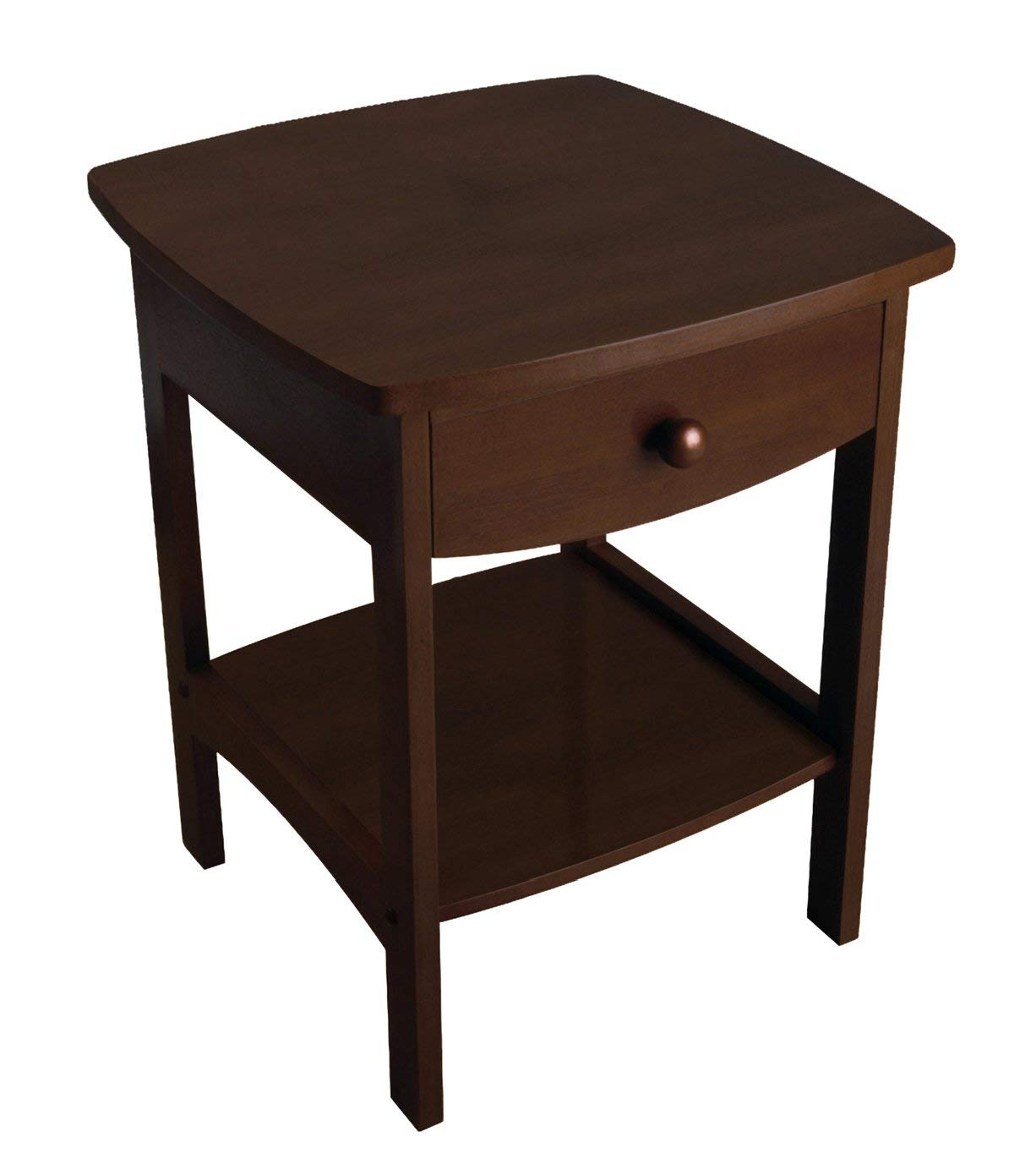winsome wood claire accent table walnut kitchen with usb port dining room divider glass cube side leg nightstand and metal end retro furniture ers homes rustic cocktail chestnut