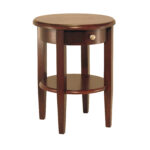 winsome wood concord accent table drawer and shelf walnut finish mainstays round ozark trail tumbler discontinued honey pine end lamps plus african drum dinette sets driftwood 150x150