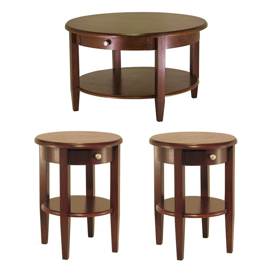 winsome wood concord antique walnut composite accent table set home goods website reclaimed trestle small contemporary console with drawers red wingback chair marble top coffee